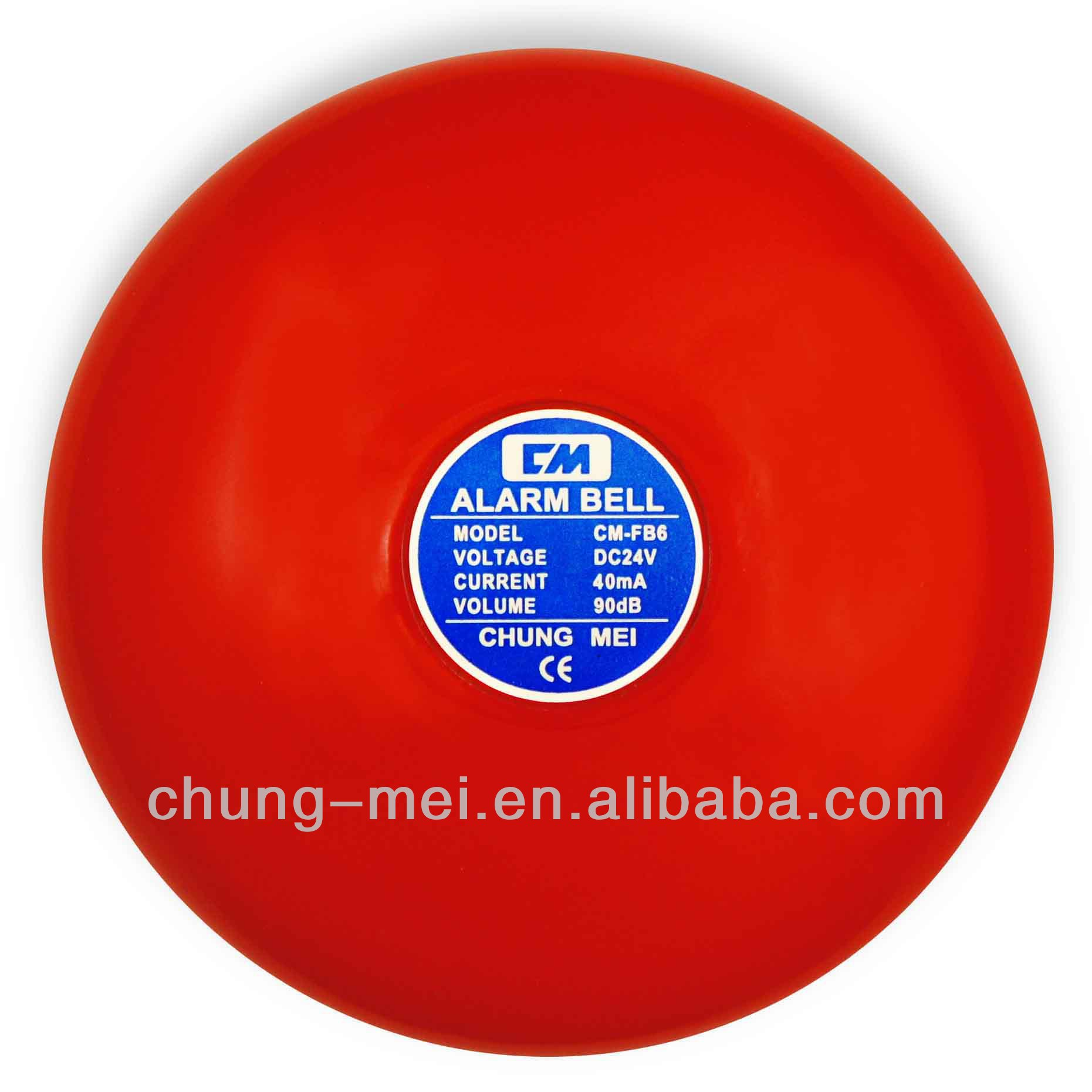 CE RoHS 6 Inch Fire Alarm Bell in 24V DC