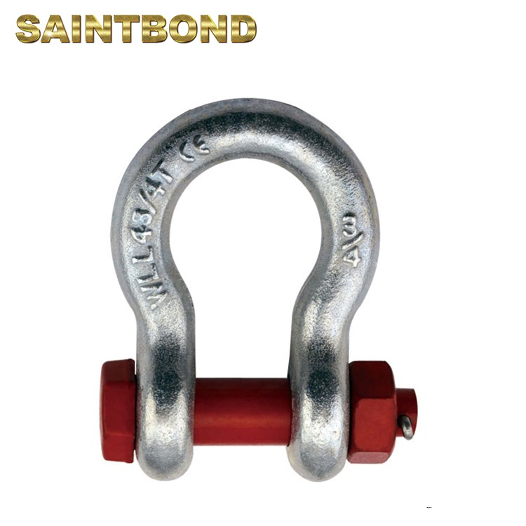 Forged pin type anchor safety shackle and chain shackle