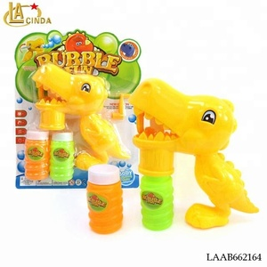 New style dinosaur models bubble gun set Indoor and outdoor toys,children hand rotation toys blown bubble