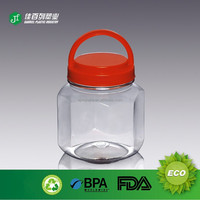 2015 China factory price hot sale food grade plastic container peanut jar