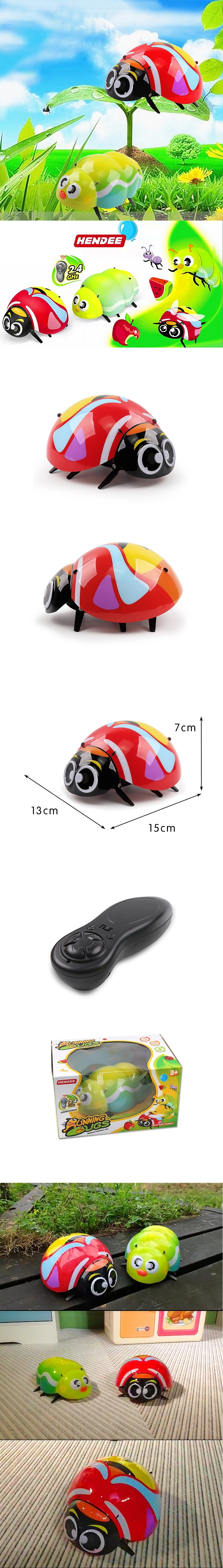 Cute!! SJY-1905 RC Simulation Beetle Insect Prank Toys For Kids