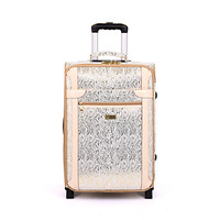 Cheap Pu Luggage Trolley Suitcase And