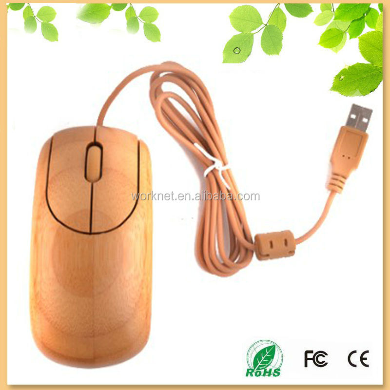 new hot selling handmade green healthy bamboo computer mouse wired