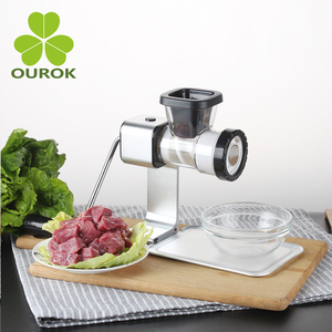 Aluminum Manual Meat Grinder with Defrosting Tray