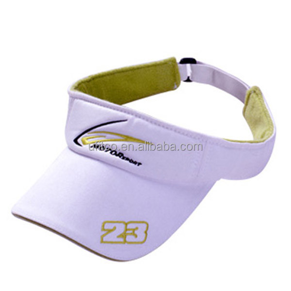 2015 top quality 100% cotton foam cap wholesale custom embroidered sport cheap sun visor cap
