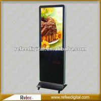 32 42 55 inch floor stand touch monitor with pc