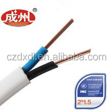 electric wire flat cable 3g1.5 PVC sheath