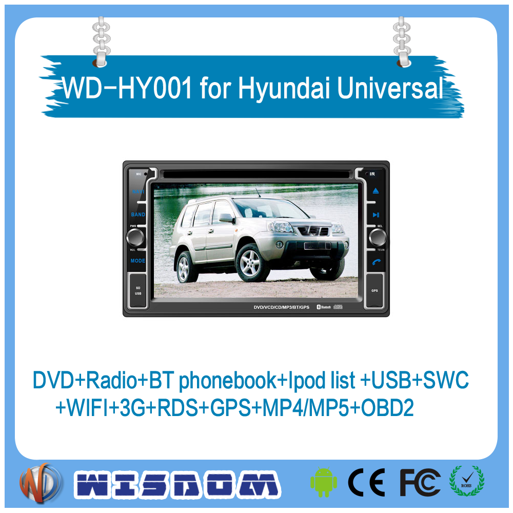 WISDOM Android 4.4.4 car dvd player for Hyundai Accent Era 2005-2011 universal audio radio gps navigation multimedia system