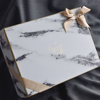 High quality custom marble gift box packaging with ribbon