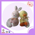 little rabbit and yellow duck type baby toy/baby rattles
