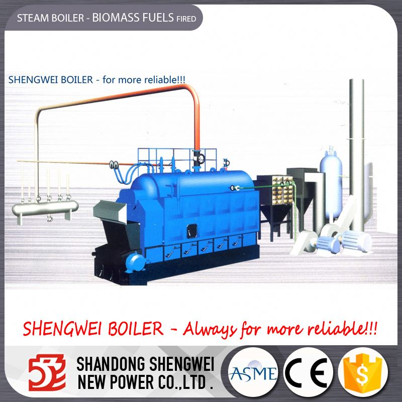 2~25ton Biomass Fuel Timber Fired Steam Circulation Boiler