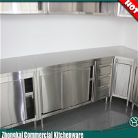 Modern Kitchen Furniture Free Standing Stainless Steel Kitchen Cabinet / Corner Cupboard