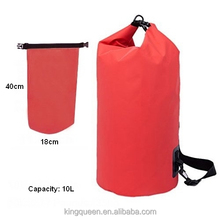 10L PVC Tarpualin outdoor sport bag with shoulder strap waterproof dry bag