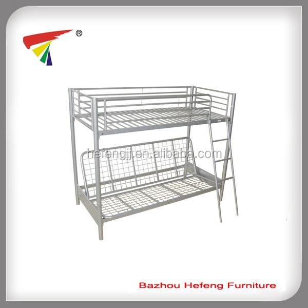 Fuerte y s lida base de metal cama litera futon sof s para - Litera con futon ...