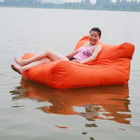 Outdoor waterproof fabric oversized square sitting puffs bean bags without beans