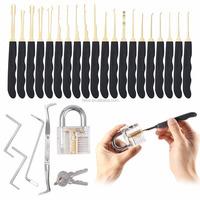 Lock pick set lowes for 24pin locksmith door lockpick china with padlock