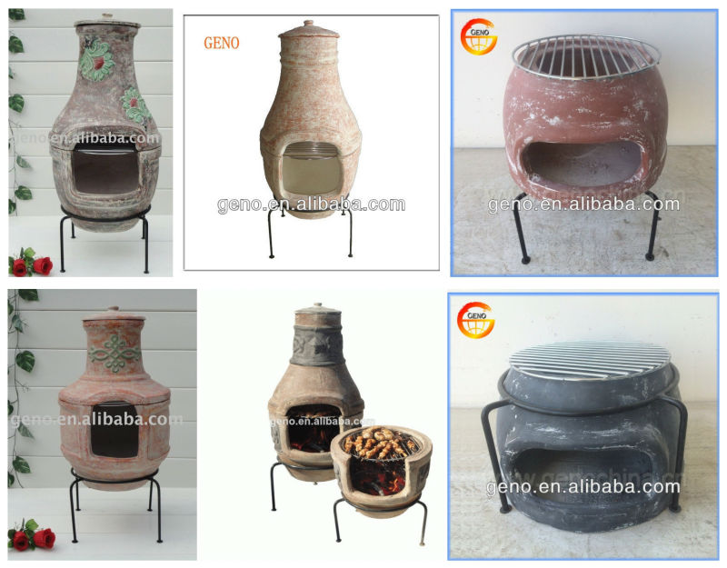 Fashion Antique Outdoor Clay BBQ Grill, Energy-Saving Clay BBQ Grill