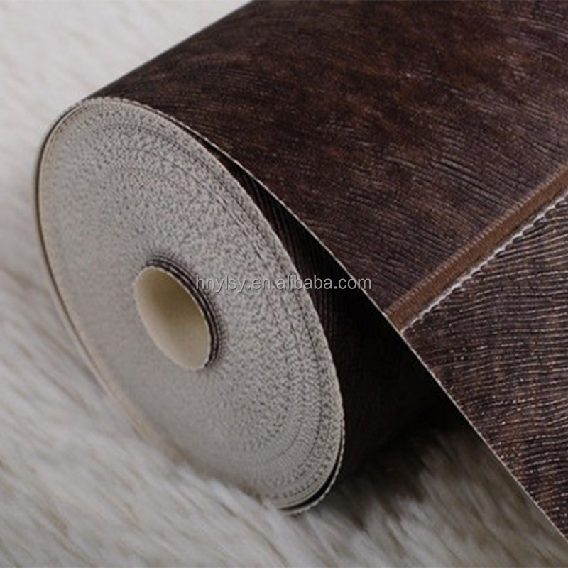 High quality Deep Brown Color Embossed PVC Faux Leather for car seat cover and decoration