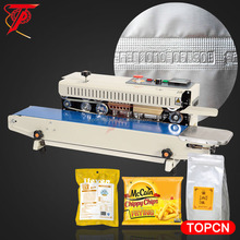 Low price tabe top plastic food containers continuous nylon sealing machine