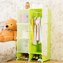 cheap green simple style baby plastic wardrobe storage