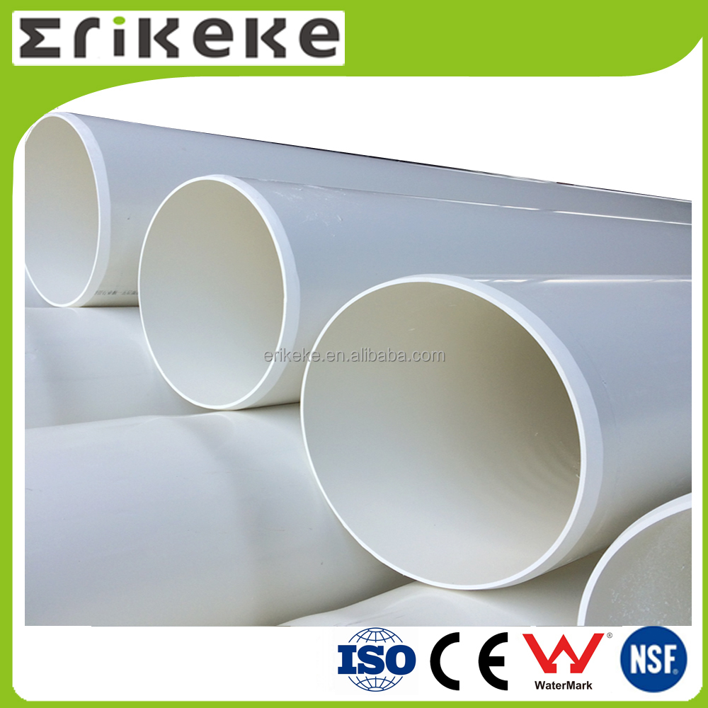 "Hot selling drainage pvc pipe 8"" price list"