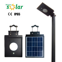 CE IP65 Rate Wisdomsolar PIR Motion Sensor 5W Led Solar Powered Grave Lights
