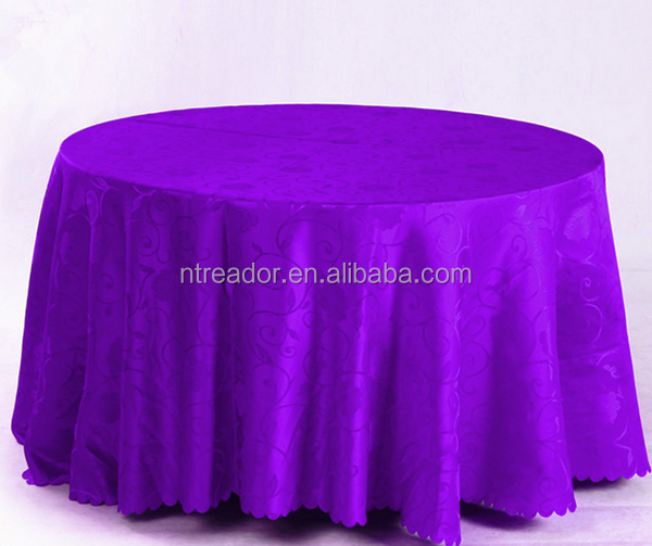 Polyester fancy fabric jacquard table cloth/table cover