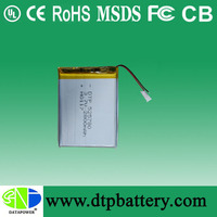 Shenzhen DTP lithium battery li-ion battery small battery can rechargeable variety of size or capacity 850mah for Dash camera