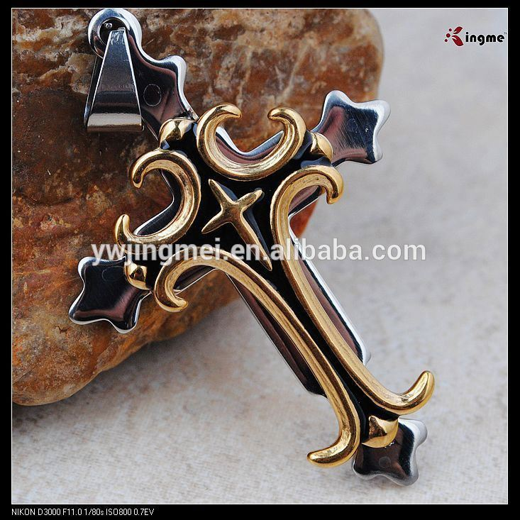 Small metal cross for crafts and jewelry