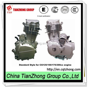 TZH 175CG electric motorcycle engine from China 162FMK for Cute bike