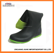 2017 New Design Soft Rubber Rain Boots for Women