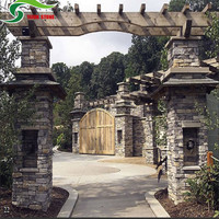 Western exterior courtyard stone wall decor board