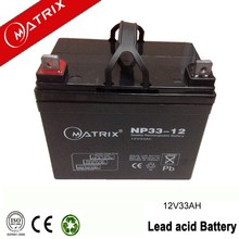 Agem deep cycle 12v 33ah 20hr battery made in Guangdong