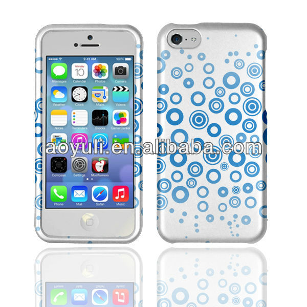 case for iphone 5C, one direction phone case for iphone 5C, cover case with cute blue bubble