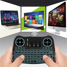 Wireless Mini Keyboard 2.4gTouchpad USB Air Mouse Remote Control LED Backlit Keyboard For HD Android TV Box Tablet Pc MK137