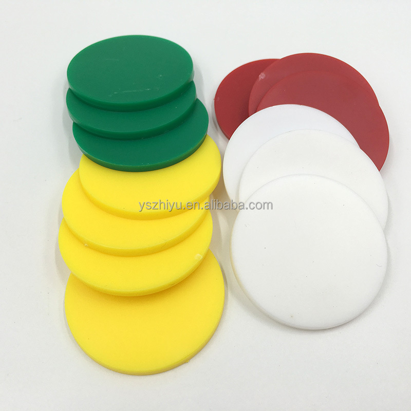 Colorful Creative Blank transparent game plastic chip coin