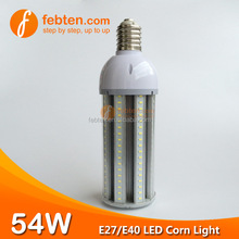 Wholesale frosted/clear PC cover IP54 led corn light 54w