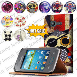New Arrival For Samsung Galaxy Pocket Neo S5310 Printing Folio Book Flip Folding PU Wallet Leather Case Media Stand Folio Cover