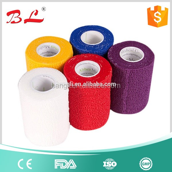"2"" cohesive bandage wrap tape adhering stick itself bandage"