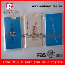 dental floss making card shape floss case 20meters customized dental flosser