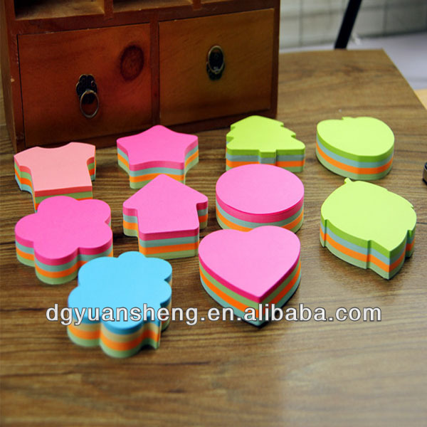 high quality shaped sticky notes with 100% wooden