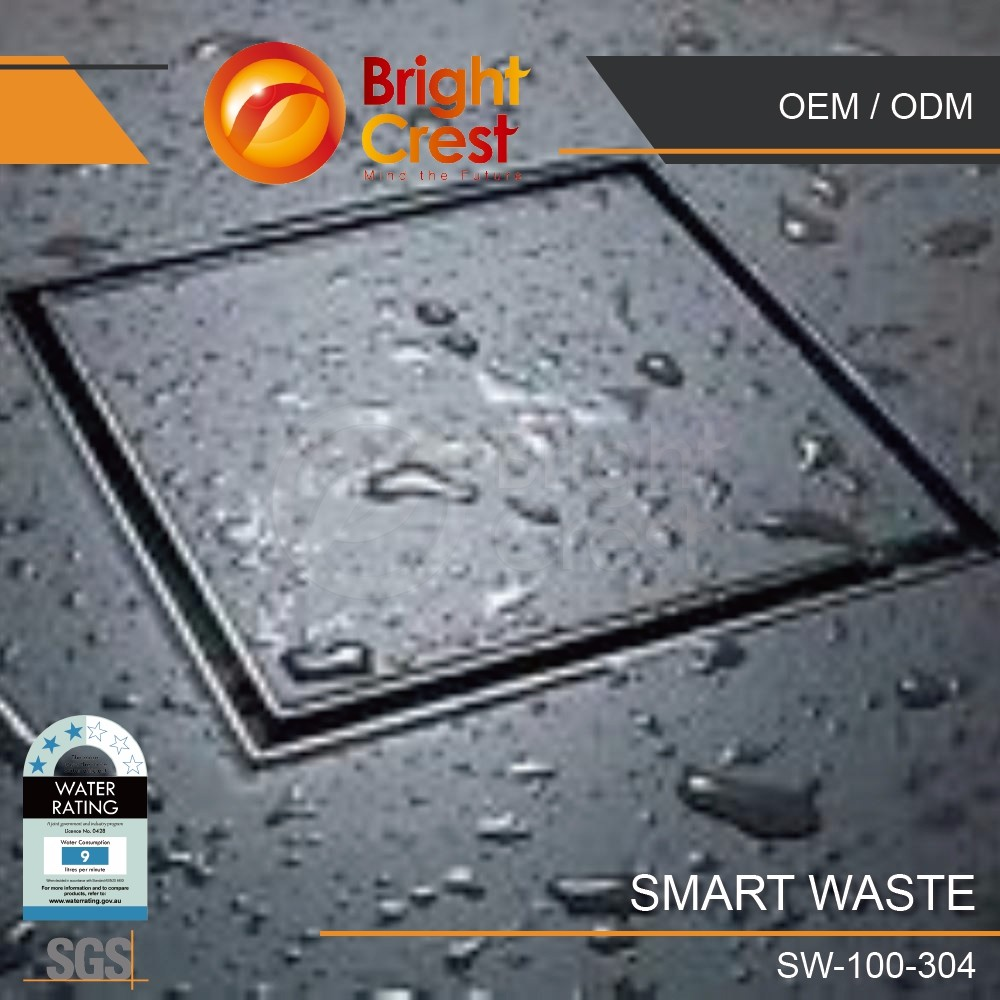 Smart Waste Tile Insert Side Outlet Floor Square Shower Drain