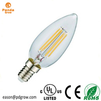 Clear LED Light Bulbs 8W 6W 4W 2W C35 A60 110V 220V Edison Filament Bulb E12 E17 E14 E27 LED 2W filament bulb