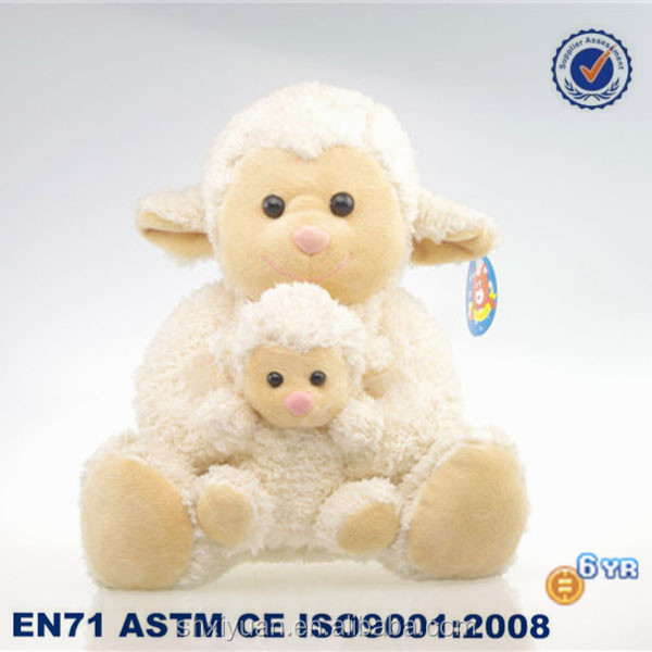 White plush animal toys/toys for mother/sheep plush toy
