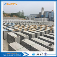 Cheap construction cement sandwich precast concrete fence panels
