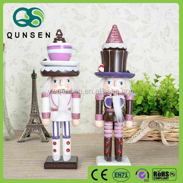 promotional hand made wood carving nutcracker soldier