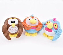 Hot selling pet plush toy stuffed the corduroy with sound