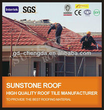 2013 Stone Coated Metal Roofing / Terracotta Red Roof Tile