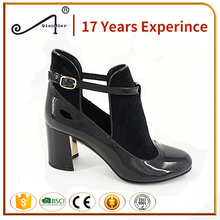 shoes black color pu material girls latest high heel sandals