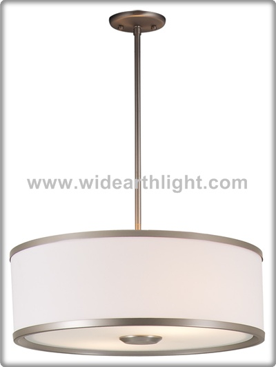 UL Listed Hotel Bedroom Round Fabric Pendant Light USA Lamp With Acrylic Cover C40632